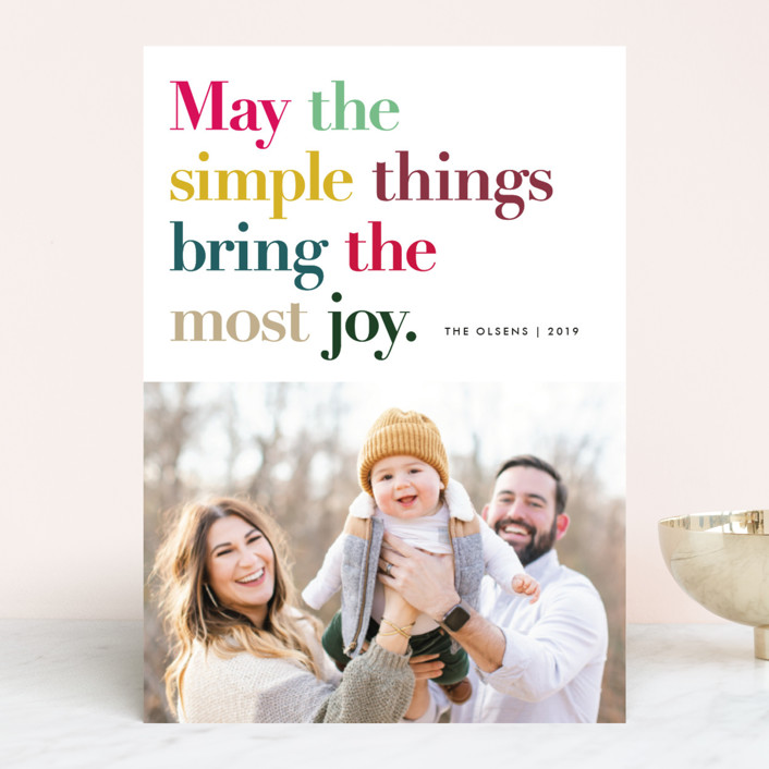 """""""Simple Things"""" - Holiday Photo Cards in Holly by annie clark."""