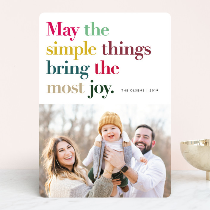 """""""Simple Things"""" - Holiday Photo Cards in Sugar by annie clark."""
