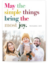 Simple Things Holiday Photo Cards