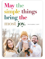 This is a colorful holiday photo card by annie clark called Simple Things with standard printing on smooth signature in standard.