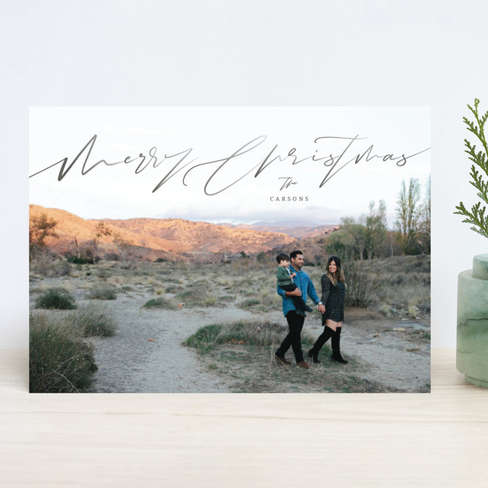 """Graphite"" - Holiday Photo Cards in Charcoal by fatfatin."
