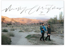 This is a grey holiday photo card by fatfatin called Graphite with standard printing on smooth signature in standard.