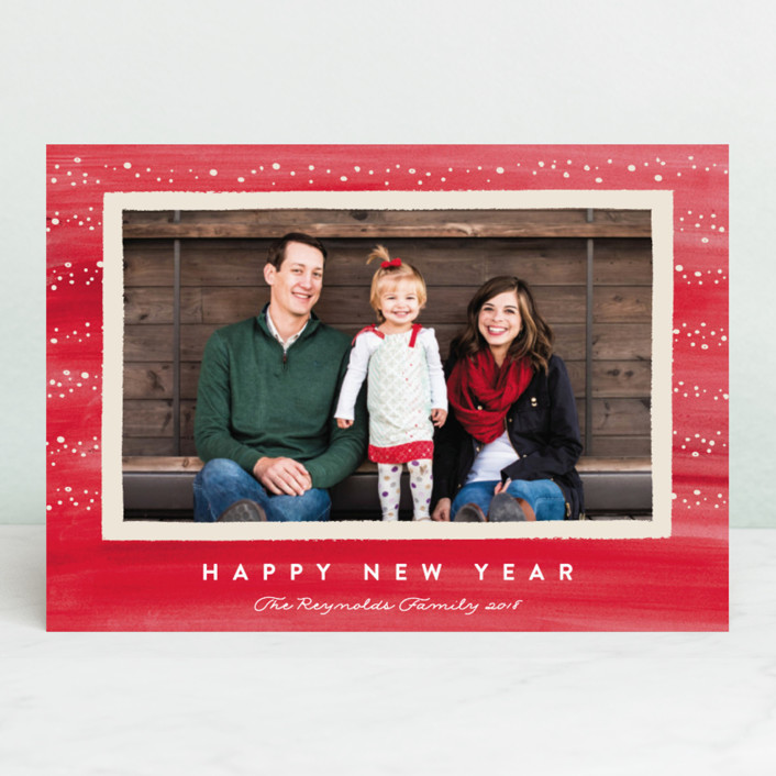 """Whimsical Holiday"" - Holiday Photo Cards in Holly Berry by Carolyn MacLaren."