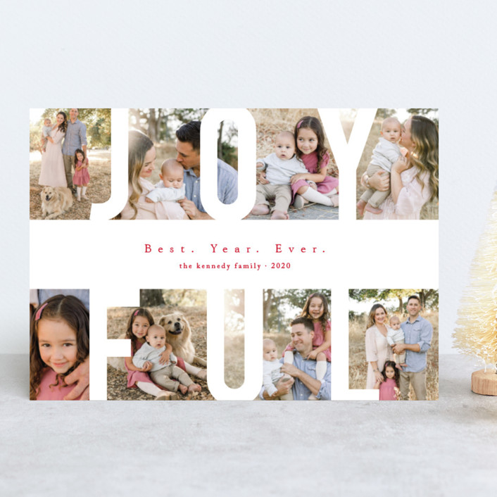 """Peace Love & Laughter"" - Holiday Photo Cards in Snow by Playground Prints."