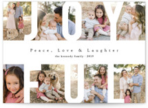 Peace Love & Laughter Holiday Photo Cards By Playground Prints