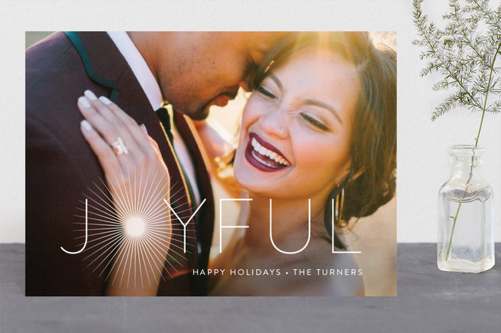 """Joyful & Glowing"" - Holiday Photo Cards in Pearl by Chryssi Tsoupanarias."