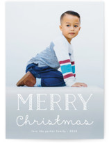 This is a white holiday photo card by Amy Payne called Candy Cane Merry with standard printing on smooth signature in standard.