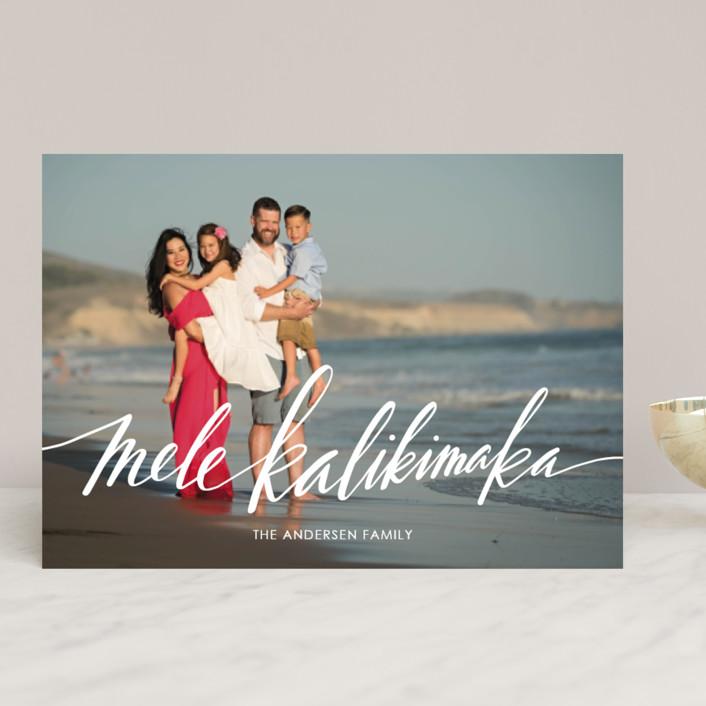 Mele Kalikimaka Christmas Cards.Modern Mele Kalikimaka Customizable Holiday Photo Cards In White By Jamie Schultz Designs