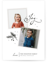 This is a black holiday photo card by lena barakat called so few with standard printing on smooth signature in standard.