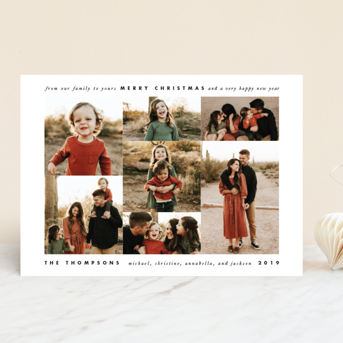 """""""Jubilee"""" - Holiday Photo Cards in Charcoal by Leah Bisch."""