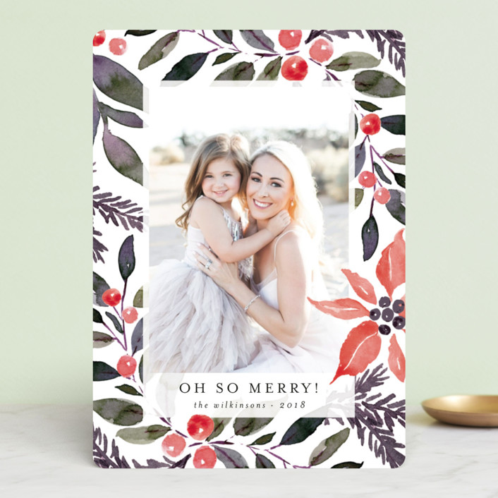 """""""Holiday Bold"""" - Holiday Photo Cards in Snow by Chris Griffith."""