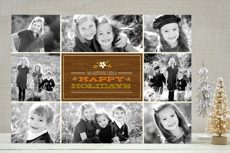 Retro Holiday Collage Holiday Photo Cards