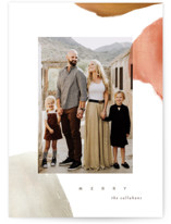 This is a brown holiday photo card by Julie Murray called Painted Desert with standard printing on smooth signature in standard.