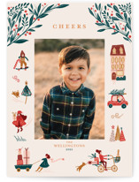 This is a brown holiday photo card by Vivian Yiwing called Holiday Season with standard printing on smooth signature in standard.