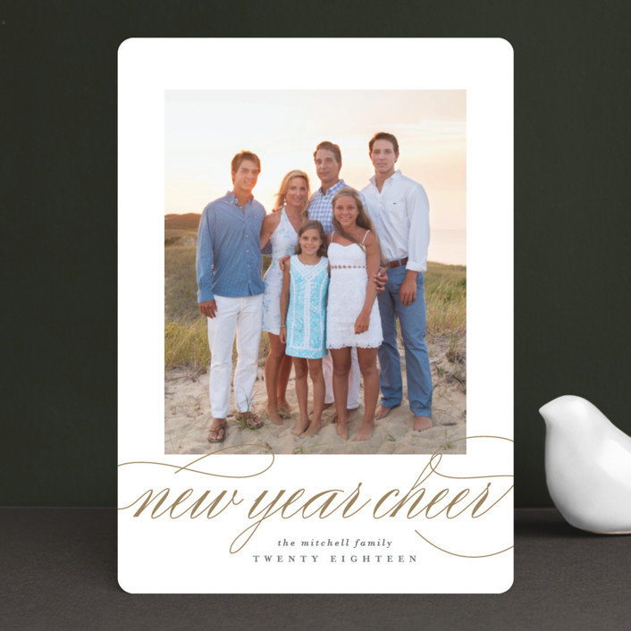 """""""So Wonderful"""" - Holiday Photo Cards in Antique by Lauren Chism."""