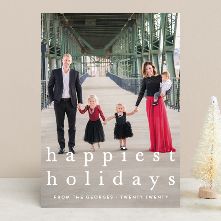"""simple christmas"" - Holiday Photo Cards in Wreath by Julia Hall."