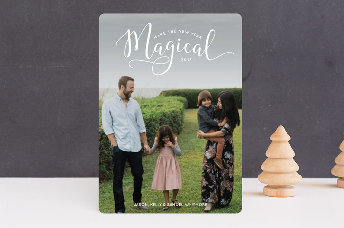 """Make the Holidays Magical"" - Holiday Photo Cards in Snow by Laura Hamm."