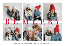 Be Merry Grid Holiday Photo Cards By Stacey Meacham