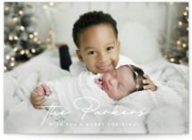 Stylish Surname Holiday Photo Cards By Ekko Studio