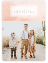 This is a pink holiday photo card by Karidy Walker called Desert Watercolor with standard printing on smooth signature in standard.