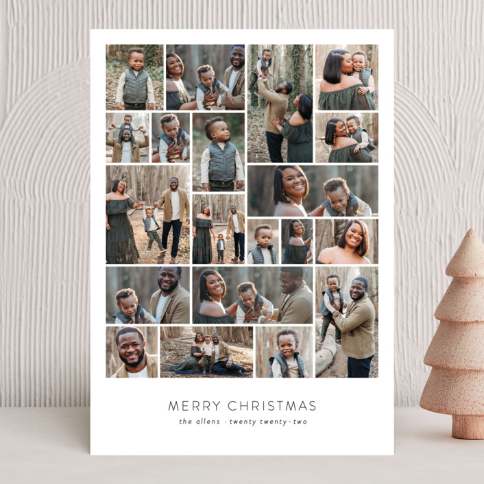 """Family Collage"" - Holiday Photo Cards in Winter by Roxy Cervantes."
