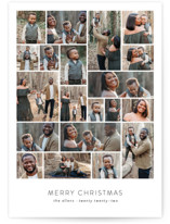 This is a white holiday photo card by Roxy Cervantes called Family Collage with standard printing on smooth signature in standard.