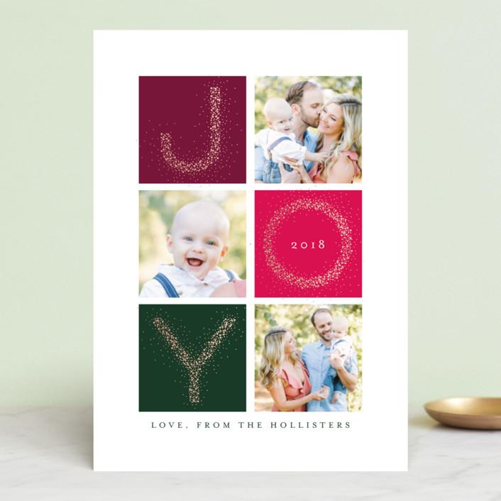 """Abundant Joy"" - Holiday Photo Cards in Spruce by Kristie Kern."