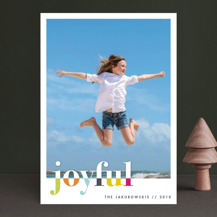 """bountiful joy"" - Holiday Photo Cards in Fete by Snow and Ivy."