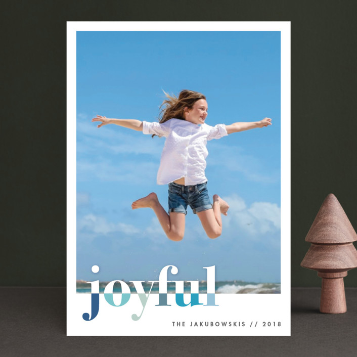 """""""bountiful joy"""" - Holiday Photo Cards in Ocean by Snow and Ivy."""