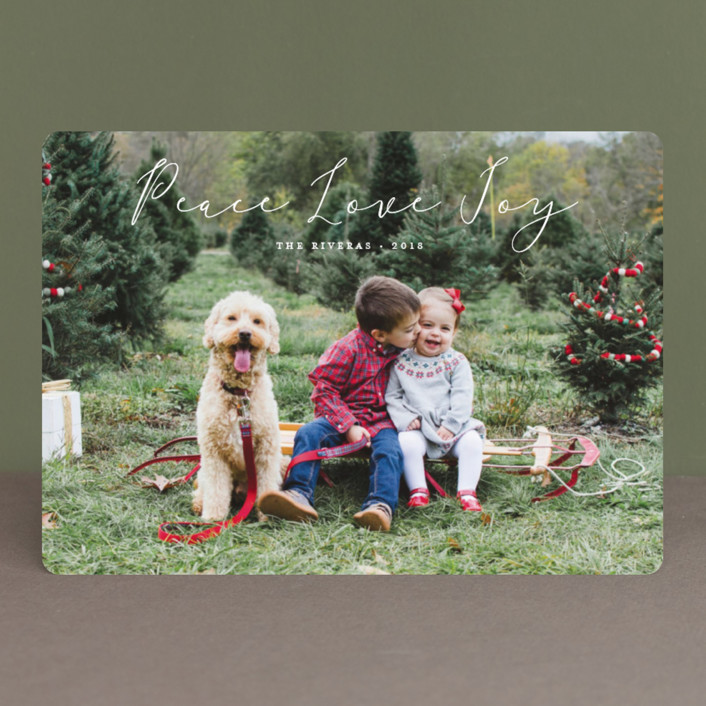 """""""Noted"""" - Holiday Photo Cards in Vanilla by Carolyn MacLaren."""