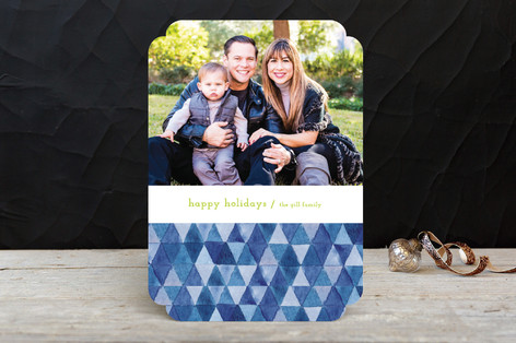 Painted Diamonds Holiday Photo Cards