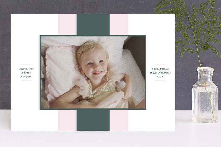 """""""Nolita"""" - Holiday Photo Cards in Sage by Toast & Laurel."""