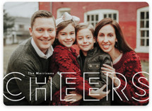 This is a white holiday photo card by Annie Holmquist called double joy with standard printing on smooth signature in standard.