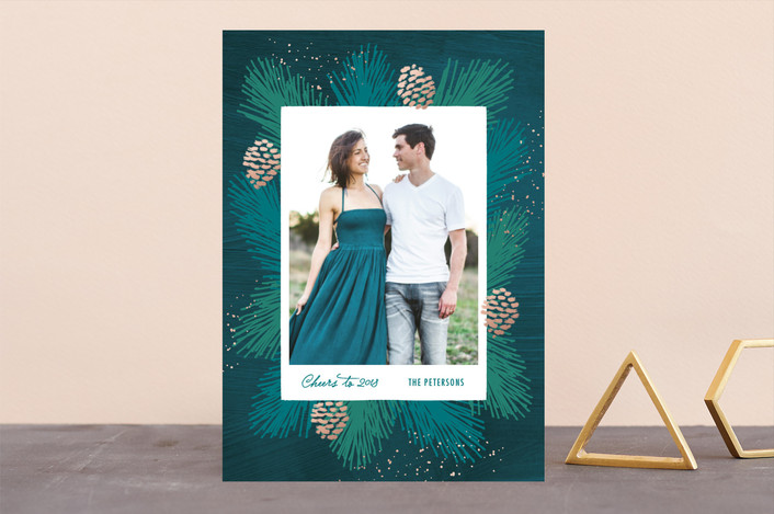 """Everything Pine"" - Holiday Photo Cards in Pine by Hooray Creative."