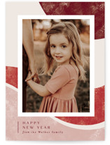 This is a red holiday photo card by Alethea and Ruth called Peppermint Swirl with standard printing on smooth signature in standard.