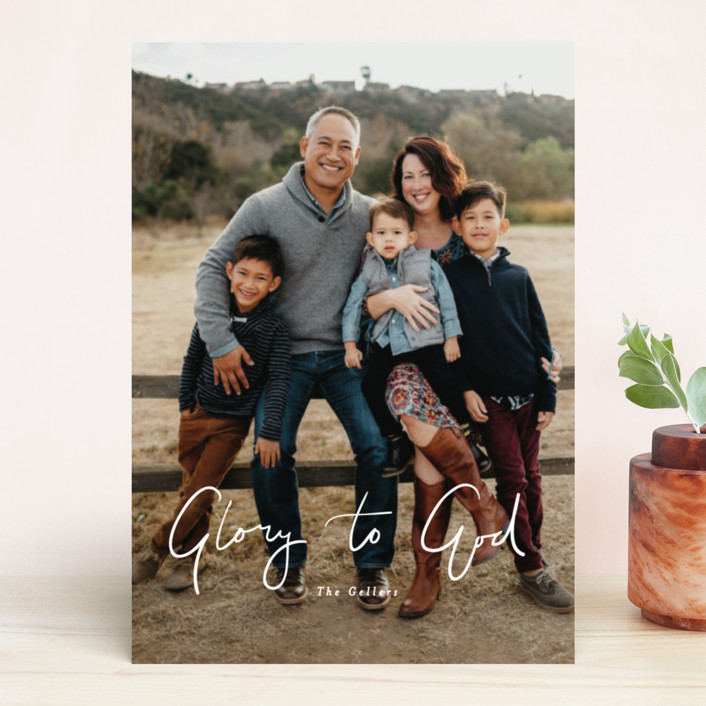 """""""tres leches"""" - Holiday Photo Cards in Peach by chocomocacino."""