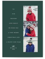 This is a green holiday photo card by Lea Delaveris called Tall tree with standard printing on smooth signature in standard.