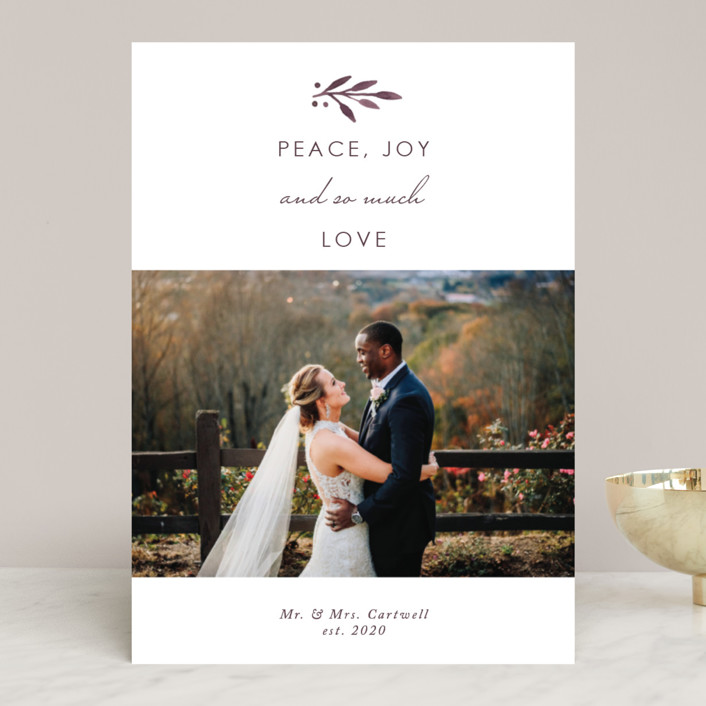 """""""So Much Love"""" - Holiday Photo Cards in Champagne by Kelly Nasuta."""