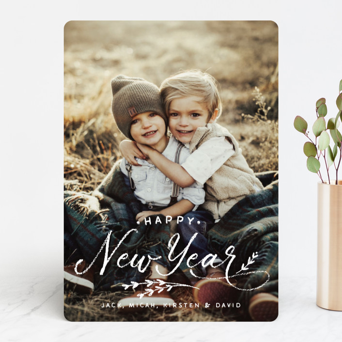 """All Chalked Up"" - Holiday Photo Cards in Winter by Design Lotus."