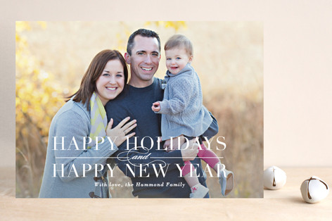 Classical Christmas Holiday Photo Cards