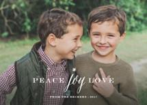 Peace Joy Love Holiday Photo Cards By Sarah Curry