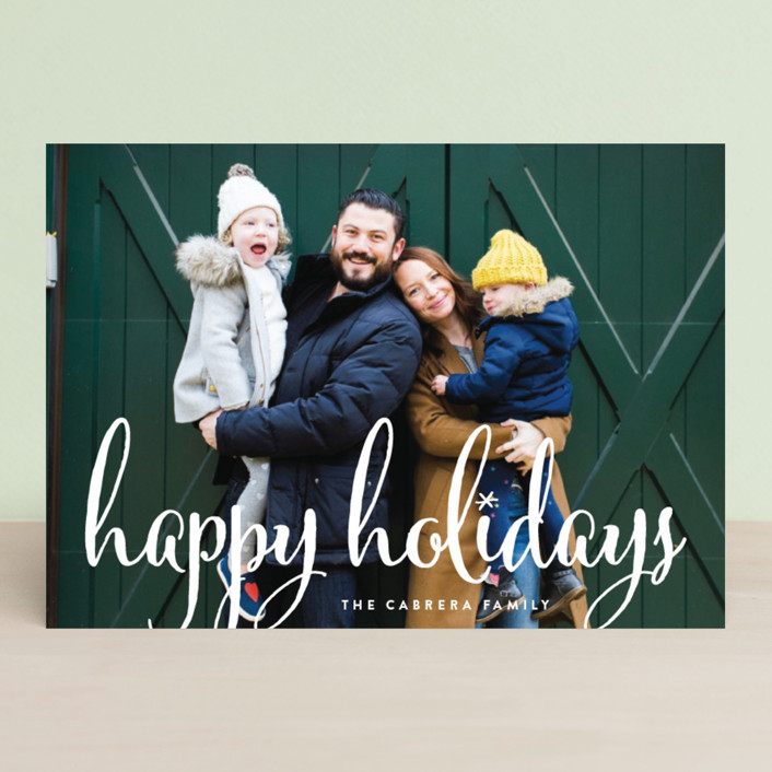 """""""Aglow"""" - Holiday Photo Cards in Snow by annie clark."""