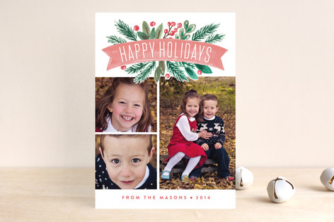 Painted Banner Holiday Photo Cards