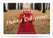 This is a pink holiday photo card by chocomocacino called compote with standard printing on smooth signature in standard.