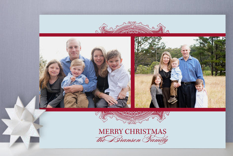 Ornate Frame Holiday Photo Cards