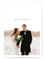 This is a red holiday photo card by Owl and Toad called Poster with standard printing on smooth signature in standard.