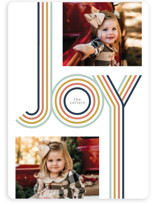 This is a white holiday photo card by GeekInk Design called Groovy with standard printing on smooth signature in standard.