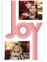 This is a red holiday photo card by GeekInk Design called Groovy with standard printing on smooth signature in standard.