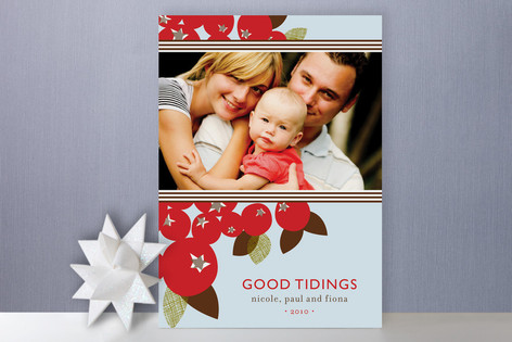 Mod Berries Holiday Photo Cards