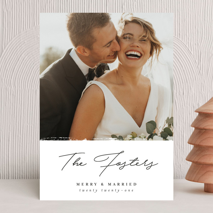 """""""Merry Marry"""" - Holiday Photo Cards in Diamond by Pixel and Hank."""